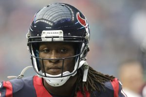 Texans receiver DeAndre Hopkins walks to the sidelines during his rookie year in 2013.