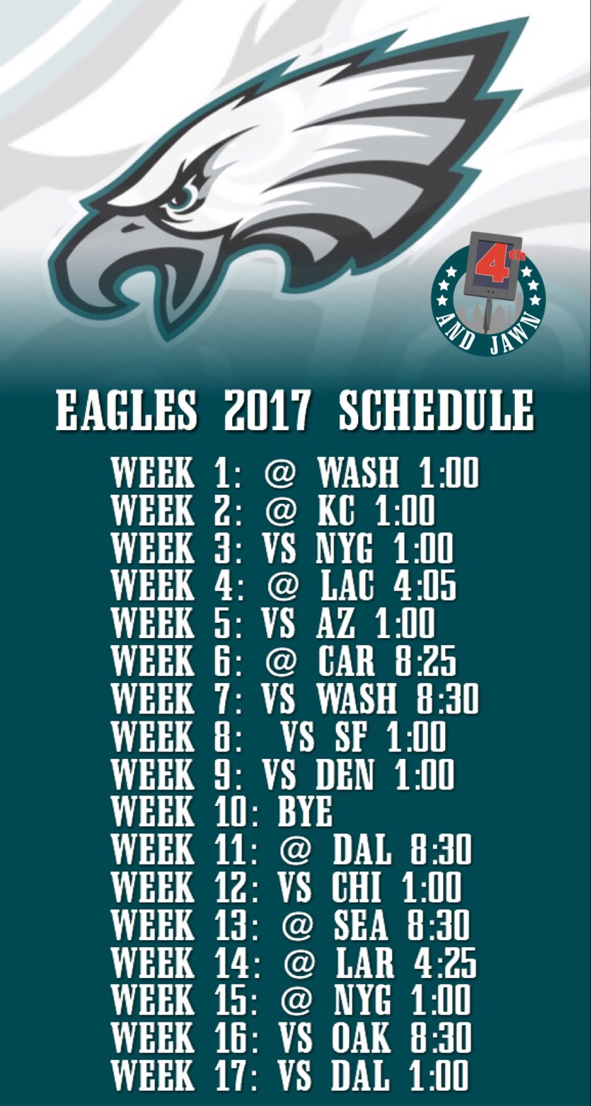Eagles Upcoming Schedule